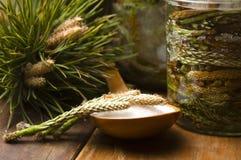 den naturliga gjorda medicinen sörjer groddsirap Arkivfoto