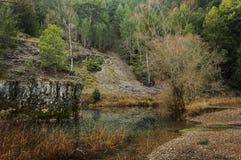 Den naturliga Lobos flodkanjonen parkerar royaltyfria foton