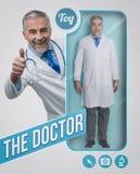 Den naturtrogna dockan för doktor Arkivfoto