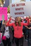 den 2nd årliga mars för kvinna` s - gör bättre vita kvinnor Royaltyfria Bilder