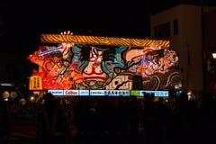 Den Nebuta flötet ståtar i den Aomori staden, Japan på Augusti 6, 2015 Royaltyfria Bilder