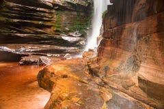 Den nedersta sikten av Cachoeira gör myggan i Chapada DOS Dimantina Royaltyfri Bild