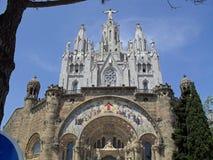 Den neo gotiska kyrkan av Iglesia del Sagrat Cor Royaltyfria Foton
