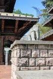 Den Nepal fredpagoden i södra bankParklands, Brisbane, Austra arkivfoto