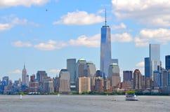 Den New York City horisonten, NYC Arkivbild