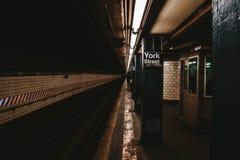 Den New York gångtunnelstationen royaltyfri fotografi