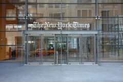 Den New York Times byggnaden Arkivfoton