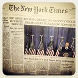 Den New York Times tidningen Fotografering för Bildbyråer