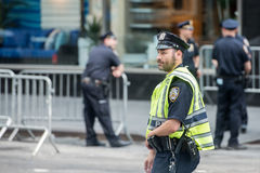 Den NEW YORK - USA 16 JUNI 2015 polisen på stadgator Royaltyfri Fotografi