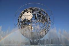 Den New York världens parkerar mässa 1964 Unisphere i Flushing Meadows Arkivfoton