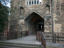 Den Newcastle slotten stärkte porthus - den svarta porten eller Blackgaten arkivbilder