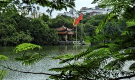 Den Ngoc son temple, Hoan Kiem Lake, Hanoi. Den Ngoc son temple in Hoan Kiem lake, Hanoi, Vietnam stock images