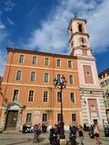 Den Nice domkyrkan är ett romerskt - den katolska domkyrkan som lokaliseras i den trevliga staden i sydliga Frankrike royaltyfria foton