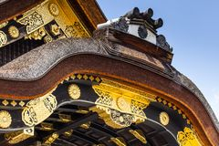 Den Nijo-jo slotten i Kyoto Arkivfoton