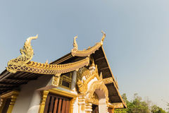 Den nordliga Thailand templet Arkivfoto