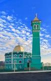 Den nordligast moskén i världen Nurd Kamal Arkivbilder