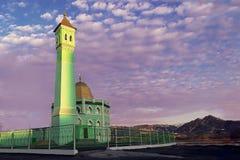 Den nordligast moskén i världen Nurd Kamal i Norilsk Arkivfoton
