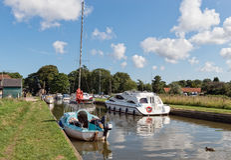 Den Norfolk sjödistrikt i Norfolk Arkivbilder