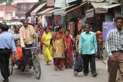 Den normala kaostrafiken av Indien Fotografering för Bildbyråer