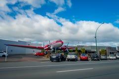DEN NORR ÖN, NYA SJÄLLAND MAY 18, 2017: Taupo är en stad på kusten av sjön Taupo i mitten av den norr ön av Royaltyfri Fotografi