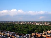 Den norr Bronxen Bikeway [den Mosholu - Pelham greenwayen] Arkivfoton