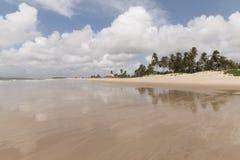 Den norr kustlinjen, Rio Grande gör Norte, Brasilien royaltyfri bild