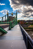 Den Northampton gatabron över Delawaret River i Easton, Arkivbilder