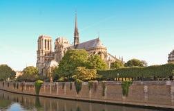 Den Notre Dame domkyrkan, Paris, Frankrike Royaltyfria Foton