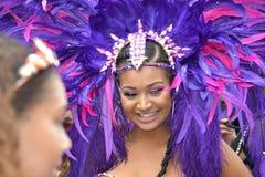 Den Notting Hill karnevalet ståtar 2018 i London UK, Augusti 27th 2018 Royaltyfri Foto
