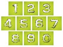 Den numrera designstilen av perforering och revan Arkivbilder