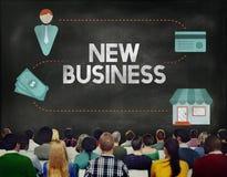 Den nya affären startar upp visionbegrepp för nya idéer Arkivfoto