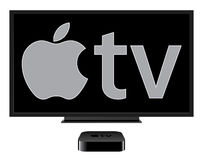 Den nya Apple TV:N Fotografering för Bildbyråer