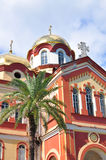 Den nya Athos kloster i Abchazien Juli 2016 Arkivfoton