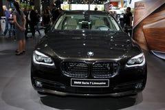 Den nya BMW Serie 7 limousineet Arkivfoto
