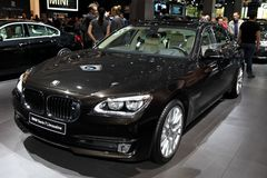 Den nya BMW Serie 7 limousineet Arkivfoton