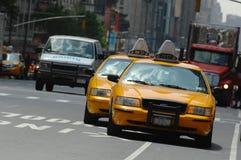 den nya cabstaden taxar york Royaltyfri Bild
