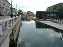 Den nya Darsenaen i Milan, Italien Royaltyfri Fotografi