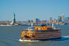 den nya färjaön staten york Arkivfoton