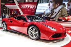 Den nya Ferrari 488 Fotografering för Bildbyråer