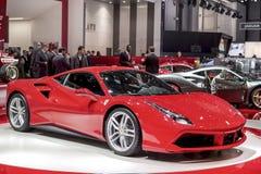 Den nya Ferrari 488 supercaren Arkivbild
