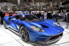 Den nya Ford GT supercaren Arkivfoton