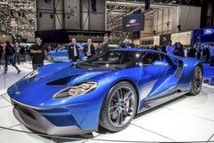 Den nya Ford GT supercaren Royaltyfri Bild