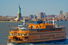 den nya färjaön staten york Arkivbild