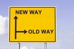 Den nya gamla vägen Arkivfoton