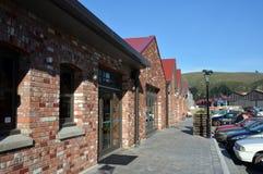 Den nya garveristången, Restarant & shoppar, Woolston, Christchurch Arkivbilder