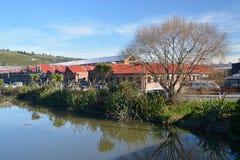 Den nya garveristången, Restarant & shoppar, Woolston, Christchurch Royaltyfria Bilder