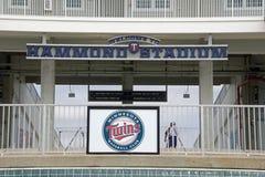 Den nya ingången till Hammond Stadium Royaltyfria Foton
