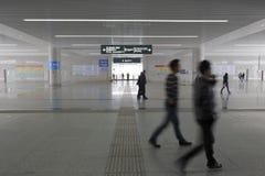 Den nya järnvägsstationkorridoren Arkivfoto