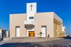 Den nya katolska kyrkan av Amora invigde i 2007 royaltyfri foto