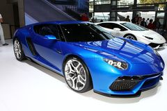 Den nya Lamborghini Asterion Arkivbilder
